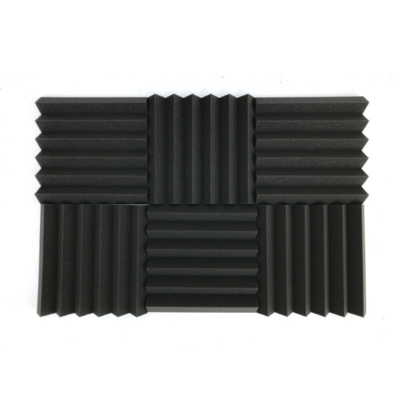 "48 Pack Acoustic Foam Panel Wedge Studio Soundproofing Wall Tiles 12"" X 12"" X 2"""