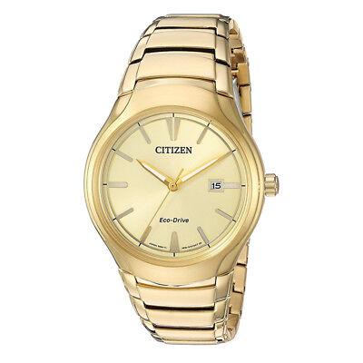 Citizen Eco-Drive Men's Champagne Dial Gold-Tone Bracelet 40mm Watch AW1552-54P