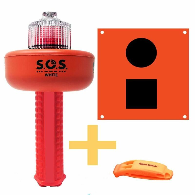 SOS Distress Light C-1003 - With Flag & Whistle - *FREE 2-Day Shipping U.S. Only