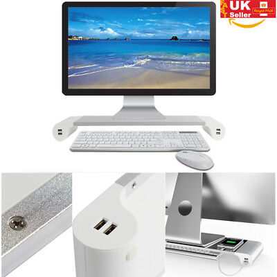 Monitor IMAC USB Charger Device Rack Interface Port PC Laptop Stand Desk Support