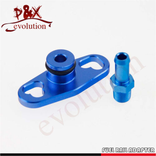 BK Fuel Rail Adapter With AN6 Tail For Mitsubishi Evo 4up Toyota Nissan Subaru