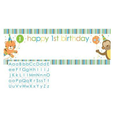 SWEET AT ONE BANNER Happy Birthday Party Wall Decoration Boys 1st PERSONALIZED