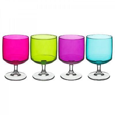 Weingläser 300ml im 4er-Pack Mix Farbe Weinglas Rotweingläser Weißweingläser T4