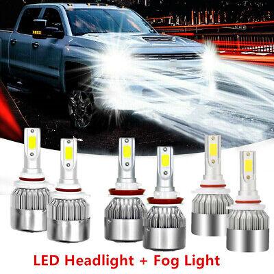 For Ford F-150 2015-2019 Combo LED Front Headlight High Low Beam+Fog Light -