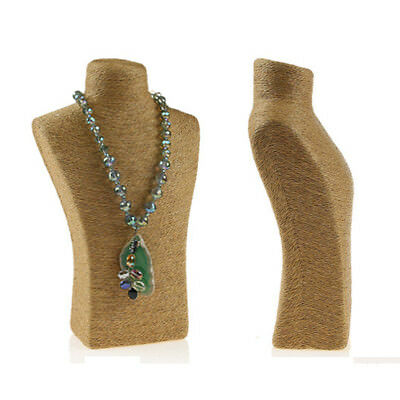 Hemp Rope Jewelry Necklace Pendant Neck Model Display Stand Holder Display Case