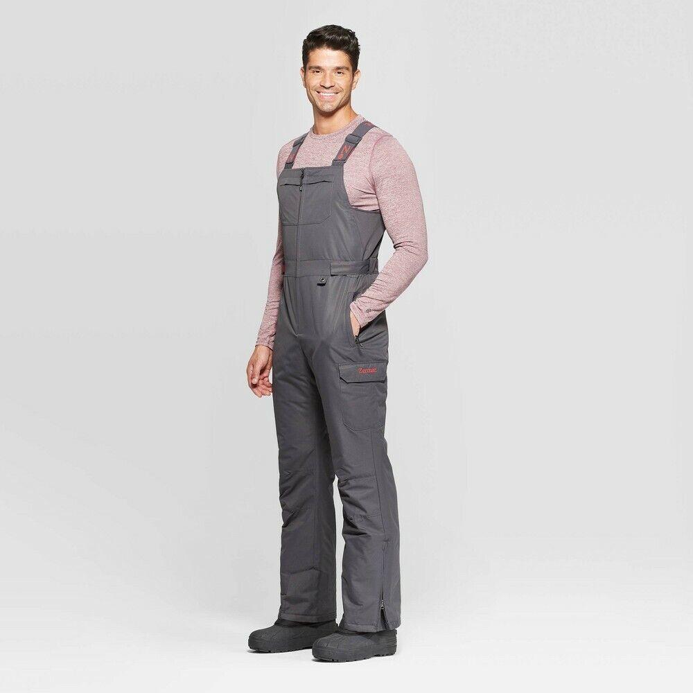 Men's Heavyweight Snow Bib Overall by Zermatt – Charcoal Grey – Medium Clothing