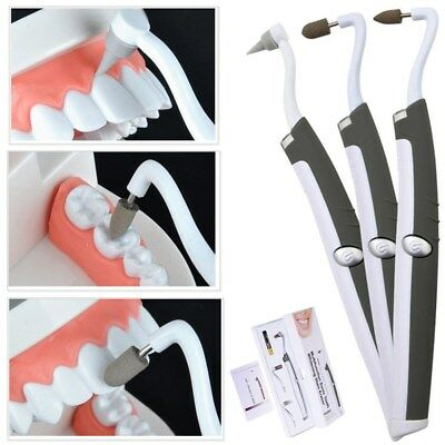 Sonic LED Teeth Whitening Kit Eraser Polisher Tartar Plaque Oral Stain Remover ()