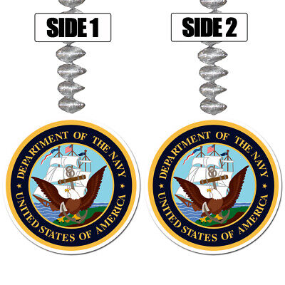 US United States NAVY Party Supplies EAGLE HANGING DANGLER DECORATIONS