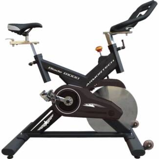 New Commercial Spin Bike - Belt Driven, Heavy 22kg Flywheel