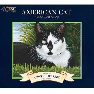 2022 Lang Calendar American Cat By Lowell Herrero - Deluxe Wall