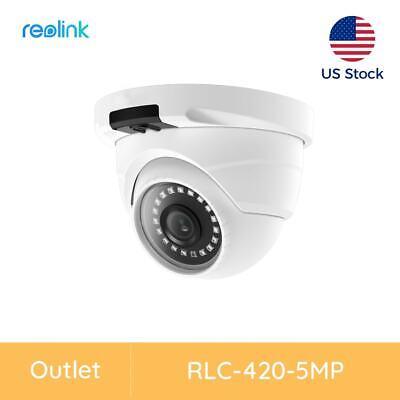 Reolink 5MP PoE Home Security Camera With Audio Weatherproof RLC-420 Renewed
