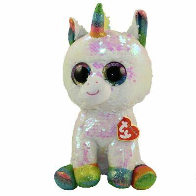 Pixy Unicorn Sequin TY Beanie Babies Flippables Plush stuffed animal 6