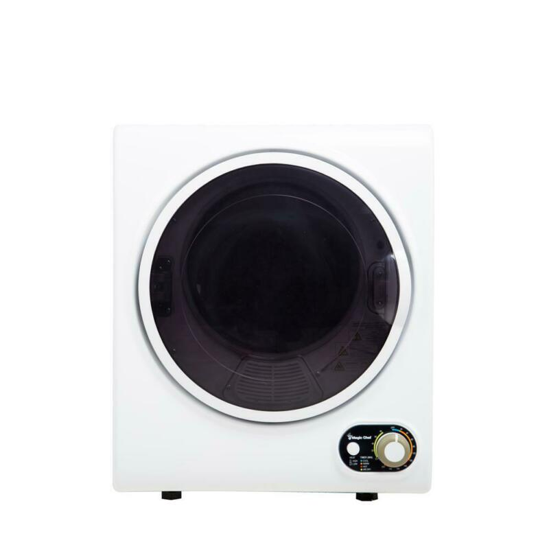 Magic Chef 1.5 Cubic Feet Compact Home Laundry Dryer Machine, White (Open Box)