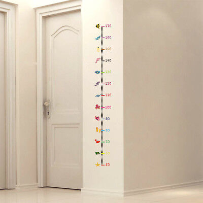 (Kids Measure Height Wall Stickers For Kids Chart Ruler Decals Nursery Home Decor)