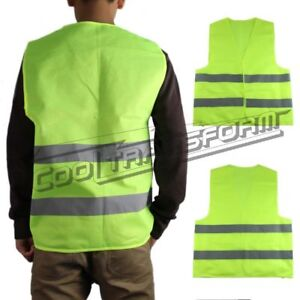 1 x Safety Vest Security Visibility Reflective Motorcycle Rider GREEN