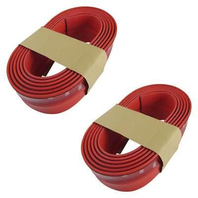 Seitenschweller Schweller Spoiler Lippe Gummi Flexibel Rot für viele Fahrzeuge