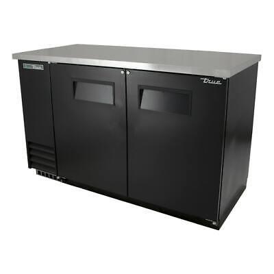 True Tbb-2-hc 58 78 Bar Refrigerator - 2 Swinging Solid Doors Black 115v