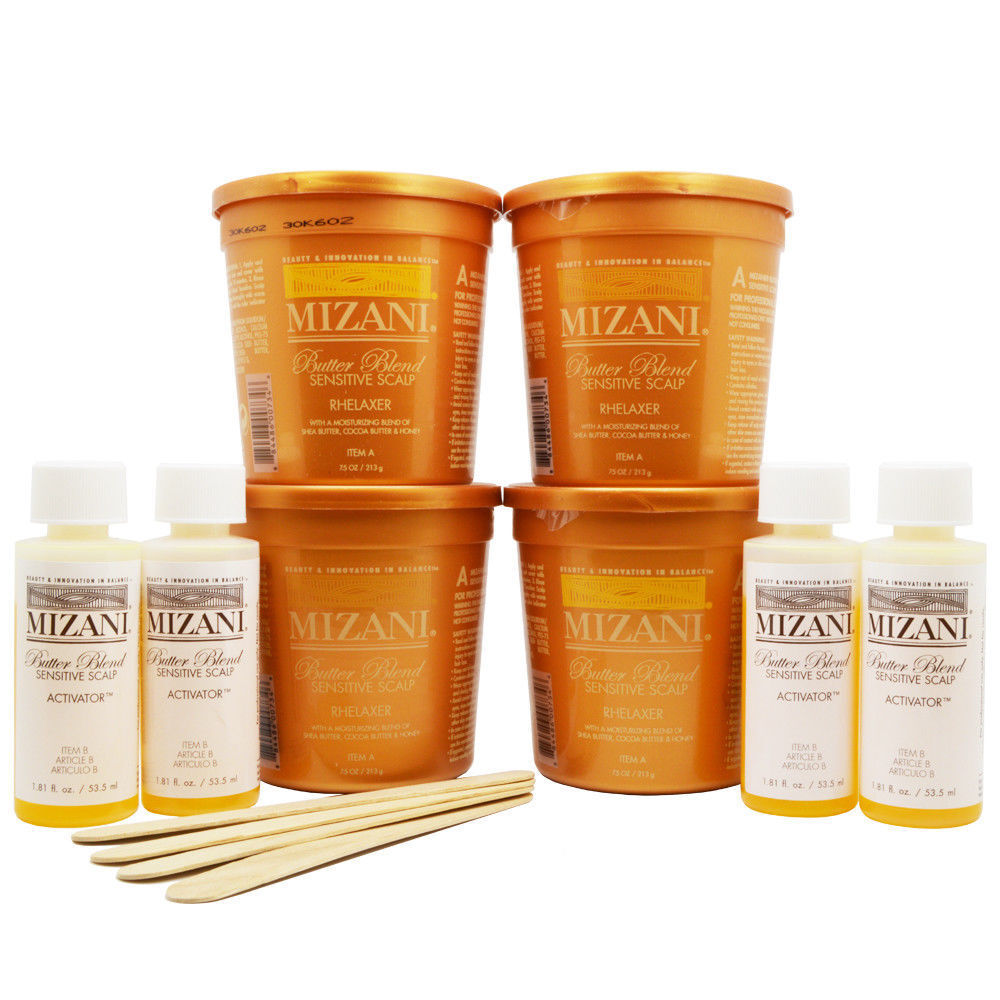 Mizani Butter Blend Sensitive Scalp Rhelaxer 4 Applications KIT Hair Care & Styling