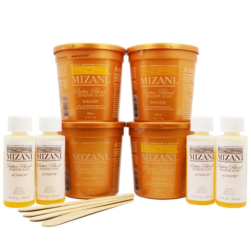 Mizani Butter Blend Sensitive Scalp Rhelaxer 4 Applications KIT Hair Care & Styling