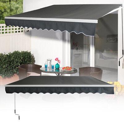 3,6m x 3m Aluminium Markisen Gelenkarmmarkise Sonnenschutz Terrasse Dunkelgrau