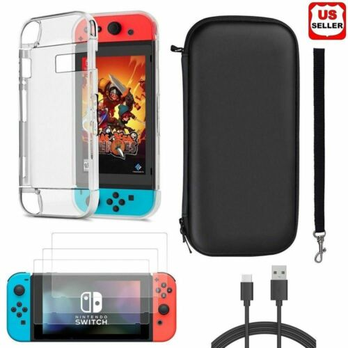 Accessories Case Bag+Shell Cover+Charging Cable+Protector for Nintendo Switch Bags, Skins & Travel Cases