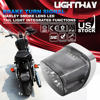 LED Tail Light for Harley Sportster Softail Dyna Electra Road Glide Turn Signal