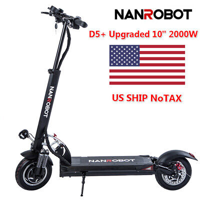 US Ship NanRobot Electric Scooter D5+ V2.0 2000W Max Speed 40MPH Range 40Miles - Electric Scooter Mph