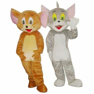 Famous Tom and Jerry Mascot Costume Party Fancy Dress Pageant Outfit Adult - Jerry Costume
