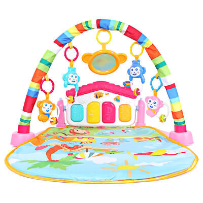 3 in 1 Baby Play Mat Gym Lay and Play with Music and Lights Fun Piano Sounds