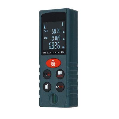 Blue Handheld 40m Laser Distance Meter Range Finder Measure Diastimeter Nice