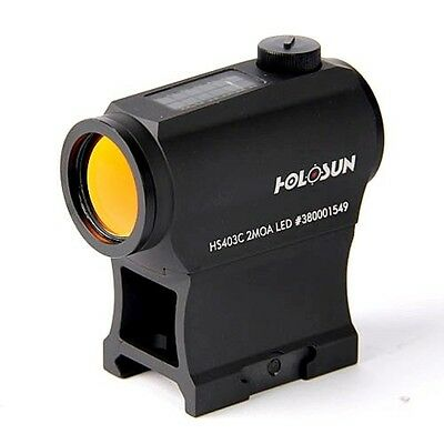 Holosun Technologies HS403C Micro Red Dot 2MOA Dot Solar with Battery HS403C