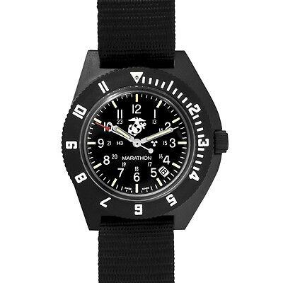 USMC Pilot Watch Marathon Navigator w/ Date SWISS MADE H3, NEW w/ box WW195013US