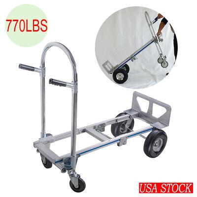 Portable Folding Aluminum Hand Truck Dolly Heavy Duty 770lbs Capacity Trolley Us