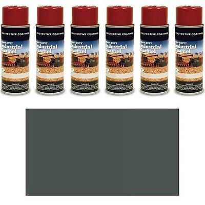 Tp372sp Pack Of Six 6 Gray Spray Paint Cans Fits Kubota Machines