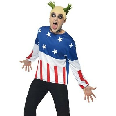 Costume Party Starter - Fancy Dress Mens 90s Prodigy Keith Outfit Fire Flint (90s Celebrity Halloween Costumes)