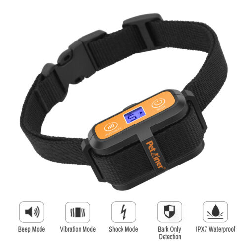 Upgraded Petrainer Waterproof Anti Bark Collar No Bark Dog Training Shock Collar