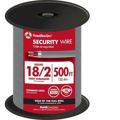 Southwire 57573144 500-ft 182 Stranded Shielded Grey Security Cable New Fsh