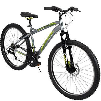 85e540b17a1 Huffy Mountain Bike Mens 26 Inch Silver 18 Speed Extent NEW