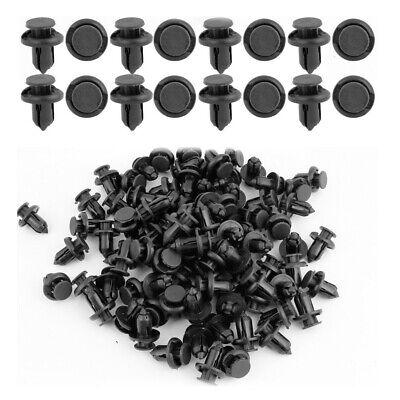 100pcs 10mm for Acura Clips Plastic Push Type Rivet Retainer Fastener Bumper Pin