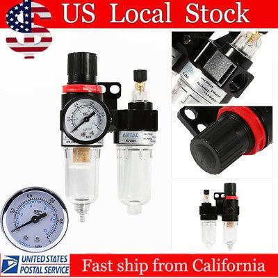 14 Air Compressor Oil Water Regulator Filter Pressure Gauge Moisture Trap Bp