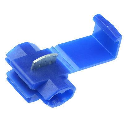 50 x Blue Scotch Lock Quick Splice Wire Crimp Connectors