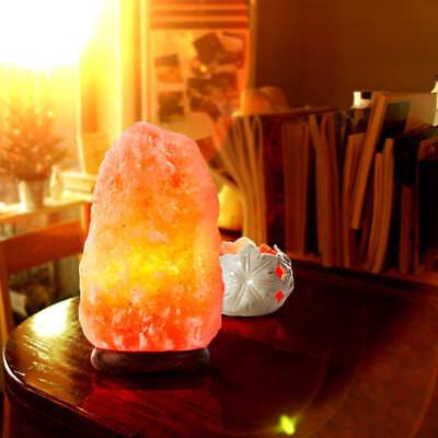 2018 Natural Himalayan Salt Lamp Hand Carved Crystal Glow Rock Lamp  4   6Lbs