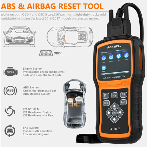 ABS Airbag SRS Reset OBD2 Auto Code Reader Car Scanner Foxwell NT630 Elite US