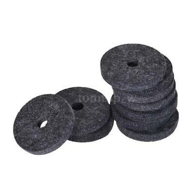 10pcs Cymbal Stand Felts Hi-Hat Sleeves Felt Drum Set Felt Washer Big Size M0B8