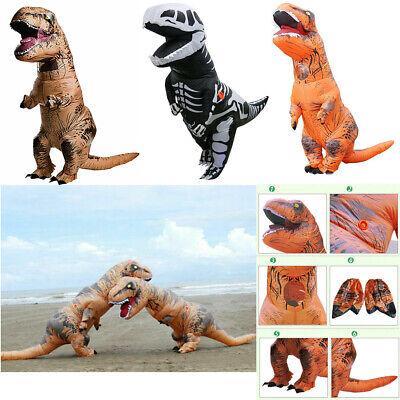 T-REX Dinosaur Inflatable Costume Suit w/2 Batteries Fans For Christmas Party