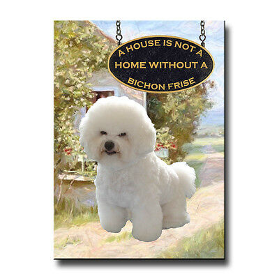 BICHON FRISE House Is Not A Home FRIDGE MAGNET New DOG ()