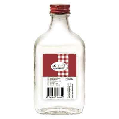 Matraz de Bolsillo Blanco 200ml Rojo Guarnición Frasco Botella Petaca Top