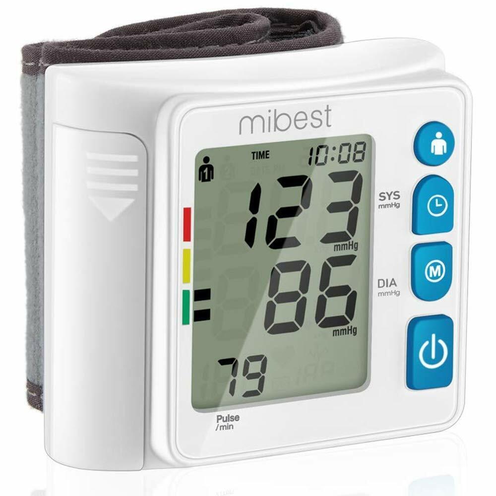 MIBEST Wrist Blood Pressure Monitor - BP Cuff Meter - FDA Ap