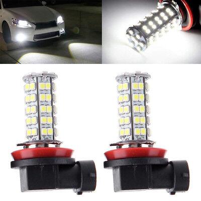 2 6000K White H8 H11 68SMD Head Light LED Bulb Lamp For Chrysler Dodge BMW Ford