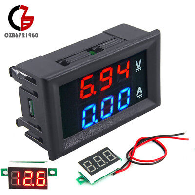 Mini Dc 100v 10a Led Amp Dual Digital Ammeter Voltmeter Red Led Voltage Meter